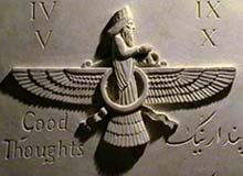 The Faravahar: commonly used as a symbol of the Zoroastrian religion since the 19th Century.